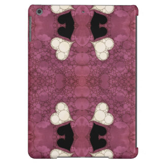 Lavender Black Heart Abstract iPad Air Cover