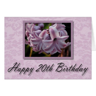 Lavender Bloom ~ Happy 20th Birthday Card