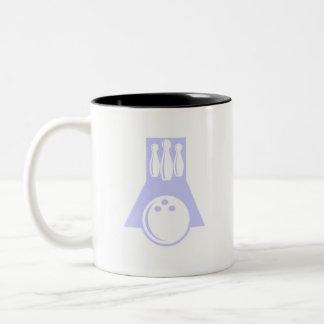 Lavender Blue Bowling Two-Tone Coffee Mug