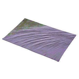 Lavender Blue Feathers Place Mat