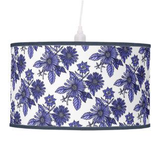 Lavender-Blue Floral Bouquet Ceiling Lamp