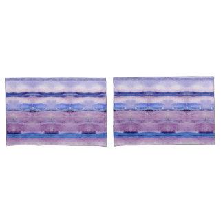 Lavender Blue Geode Inspired Tribal Blanket Art Pillowcase