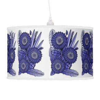Lavender Blue Gerbera Daisy Flower Bouquet Pendant Lamps