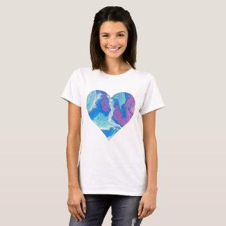 Lavender Blue Heart T-Shirt