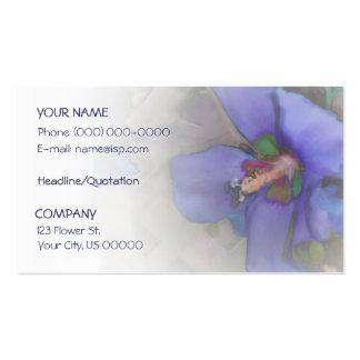 Lavender Blue Hibiscus Business Card