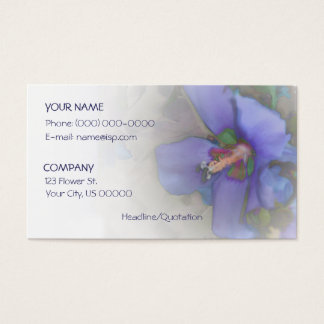 Lavender Blue Hibiscus Business Card