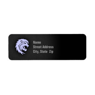 Lavender Blue Leo Lion Return Address Label