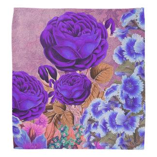 Lavender Blue Roses Bandana