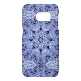 Lavender Blue Snowflake Samsung Galaxy S7 Case