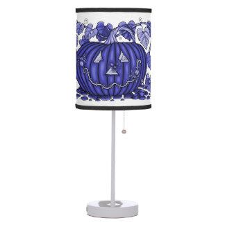 Lavender-Blue Spidery Pumpkin Desk Lamps