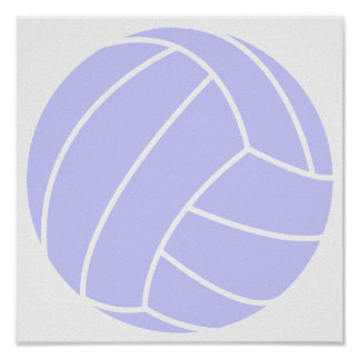 Lavender Blue Volleyball Print