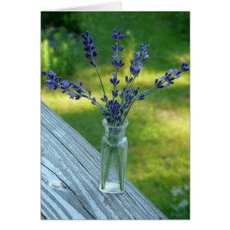 Lavender Bouquet card