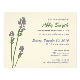 Lavender Bridal or Baby Shower Card
