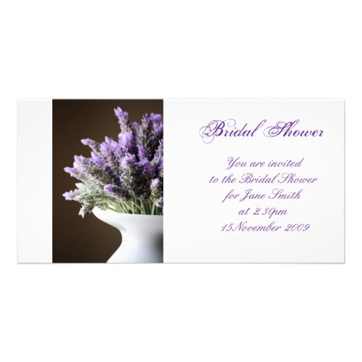 Lavender - Bridal Shower/Wedding Invitation Photo Cards