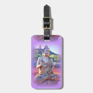 lavender buddha luggage tag