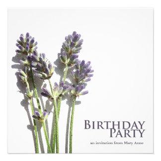 Lavender Bunch Birthday Party Invitations