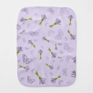 Lavender & Butterflies Burp Cloth