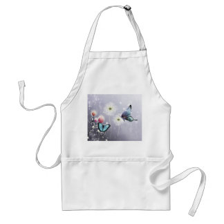 Lavender Butterfly Abstract Standard Apron