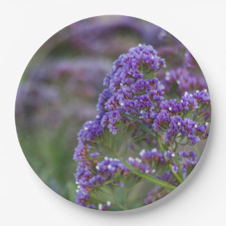 Lavender by the ocean paper plate