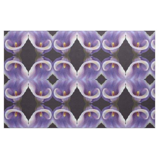 Lavender Calla Lily Fabric