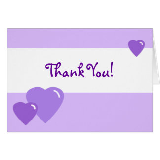 Lavender Candy Hearts Thank You Card