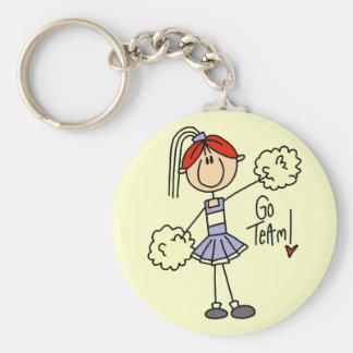 Lavender Cheerleader Tshirts and Gifts Keychain
