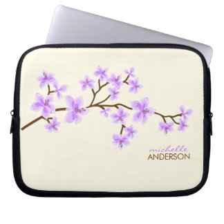 Lavender Cherry Blossoms Tree Laptop Sleeve