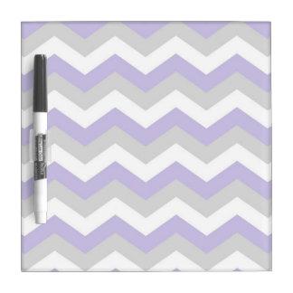 Lavender Chevron Dry Erase Board