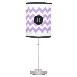 Lavender Chevron Monogram Lamp