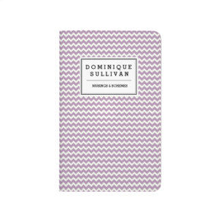 Lavender Chevron Pattern Personalized Journal