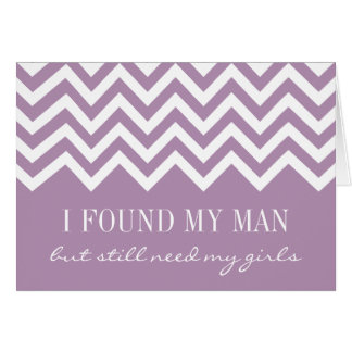 Lavender chevron Will you be my bridesmaid cards