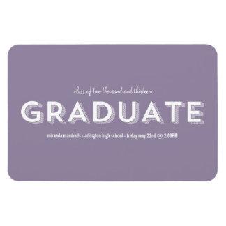 Lavender Chic Graduation Magnet
