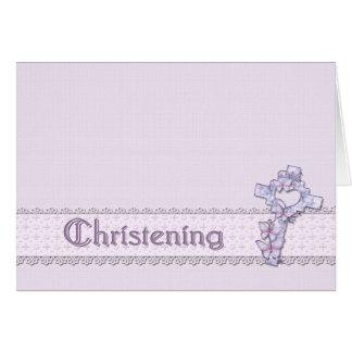 Lavender Christening Invitation