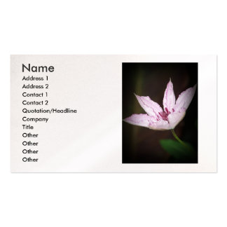 Lavender Clematis Business Card