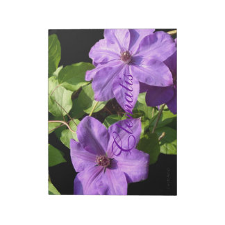 Lavender Clematis Duo Memo Notepads