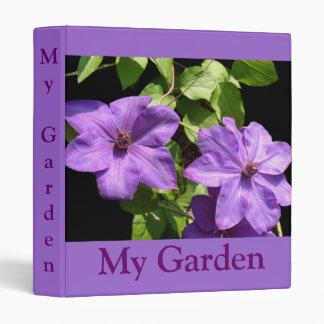 Lavender Clematis Duo Vinyl Binder