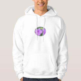 Lavender Close-up Impatiens in Swirl Hoodie