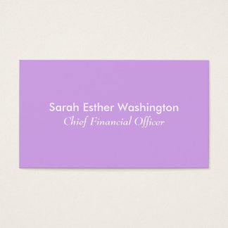 Lavender Color Business Card