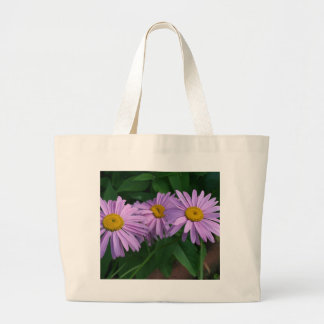 Lavender Colored Painted Daisies Large Tote Bag
