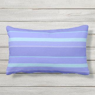 Lavender Cool Stripe Outdoor Lumbar Pillow