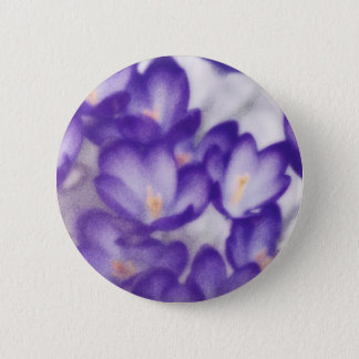 Lavender Crocus Flower Patch 2 Inch Round Button
