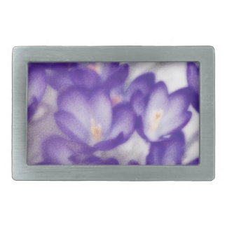 Lavender Crocus Flower Patch Belt Buckles