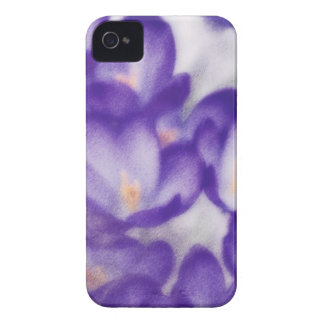 Lavender Crocus Flower Patch Case-Mate iPhone 4 Cases