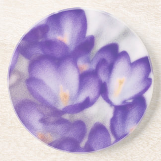 Lavender Crocus Flower Patch Coaster