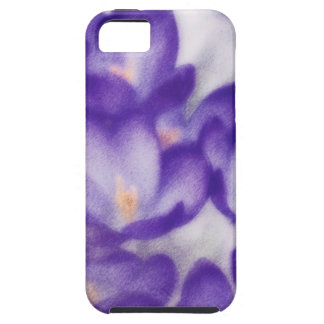 Lavender Crocus Flower Patch iPhone 5 Cases