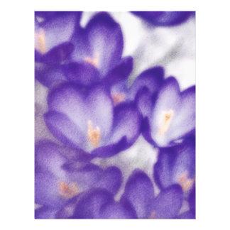 Lavender Crocus Flower Patch Letterhead