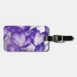 Lavender Crocus Flower Patch Luggage Tag