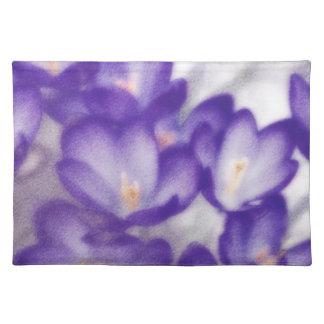 Lavender Crocus Flower Patch Placemat