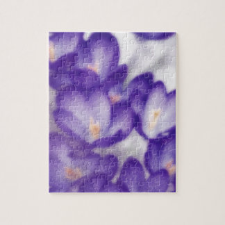 Lavender Crocus Flower Patch Puzzle