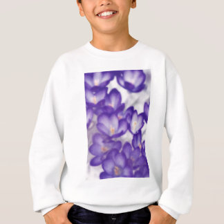 Lavender Crocus Flower Patch Sweatshirt